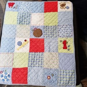 Carter's  sports baby quilt
